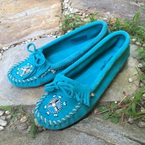MINNETONKA Me To We Beaded Suede Moccasin